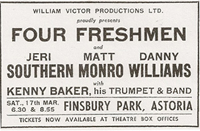 Four Freshmen Tour advert