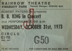 B.B King ticket