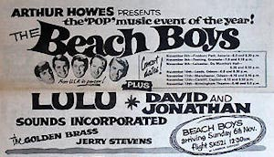 Beach Boys tour flyer