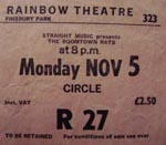 Boomtown Rats Ticket