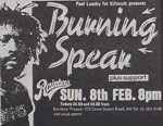 Burning Spear press advert