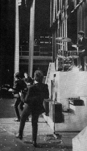Beatles from stage left