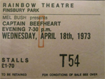Capt Beefheart ticket