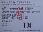 Bill Whithers ticket