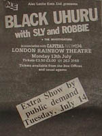 Black Uhuru press advert