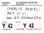 Charlie Daniels ticket
