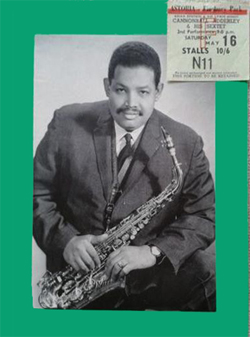 Cannonball Adderley Programme & ticket