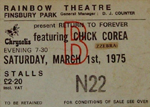 Return to Forever ticket