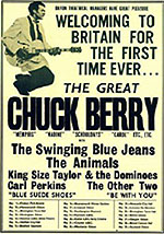 Chuck Berry tour flyer