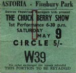 Chuck Berry show circle ticket