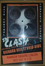 Poster for The Clash & Richard Hell & The Void-oids