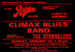 Climax Blues Band/Stranglers poster