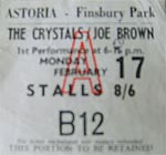 The Crystals, Joe Brown ticket