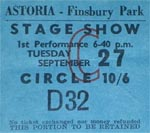 Dusty Springfield ticket