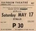 David Gates ticket