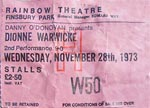 Dionne Warwick ticket