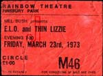ELO-Thin Lizzy Ticket