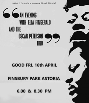 Ella Fitzgerail/Oscar Peterson Trio advert