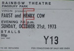 Faust/Henry Cow ticket