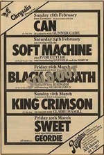Assorted Rainbow concerts advert