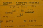 Grateful Dead film ticket