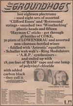 Groundhogs Press Ad