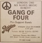 Gang of Four press Advert
