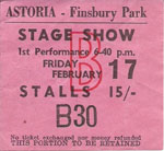 Gene Pitney tour ticket
