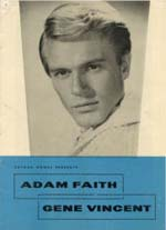 Gene Vincent, Adam Faith Programme