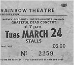 Grateful Dead ticket