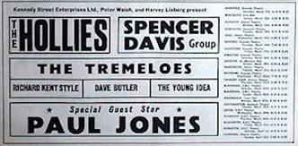 Hollies tour flyer