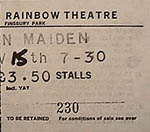Iron Maiden ticket