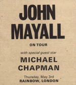 John Mayall advert