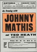 Johnny Mathis flyer