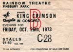 King Crimson ticket