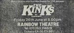 The Kinks press advert