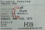 Liza Minnelli ticket