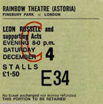 Leon Russell ticket