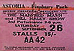 Manfred Mann - Bill Haley ticket