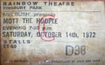 Mott the Hoople ticket