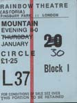 Mountain ticket