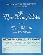 "Nat""King""Cole Concert Flyer"