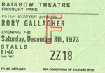 Rory Gallagher ticket