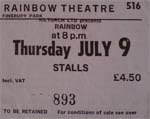Rainbow ticket