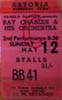 Ray Charles & his Orchestra ticket