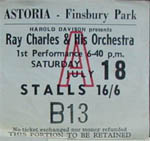 Ray Charles ticket
