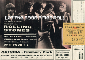 Rolling Stones flyer & ticket