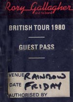 Rory Gallagher Guest Pass