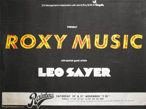 Roxy Music Poster
