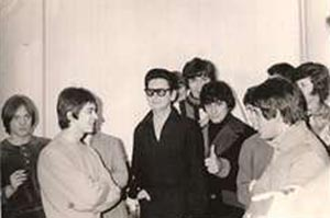 Roy Orbison & The Small Faces backstage